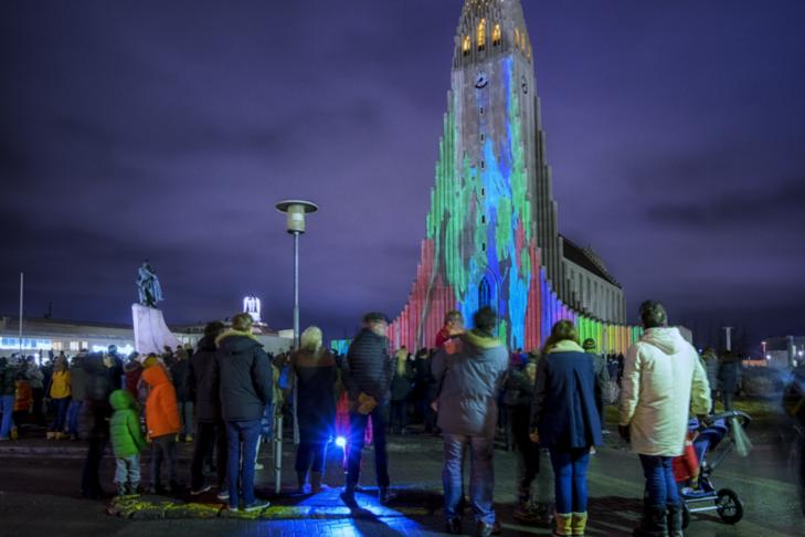 Þrengja Eiríksgötu við Hallgrímskirkju og hægja á umferð