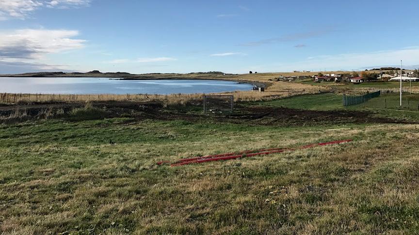 Hreinsa beð og njóla í kringum göngustíga í hverfinu.