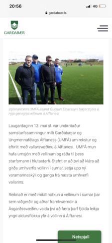 Að lýsa upp gervigrasvöllinn á íþróttasvæði Álftanes