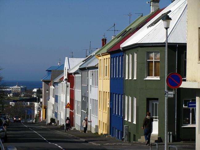 Crosswalk over Njarðargata