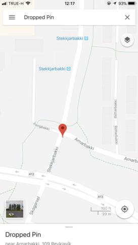 Hringtorg við gagnamót Arnarbakka og Stekkjarbakka