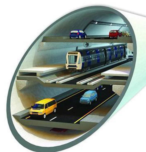 Underground public transport and underground highway