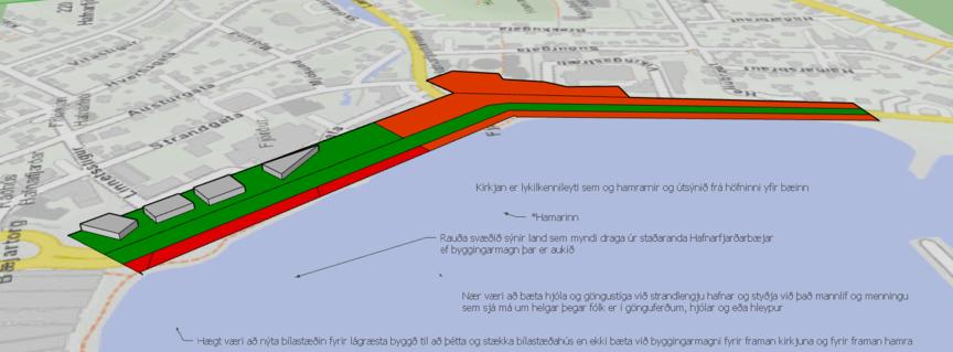 Athugasemdir og hugmyndir fyrir miðbæjarskipulag