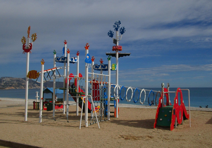 Play equipment in Cheese Show area