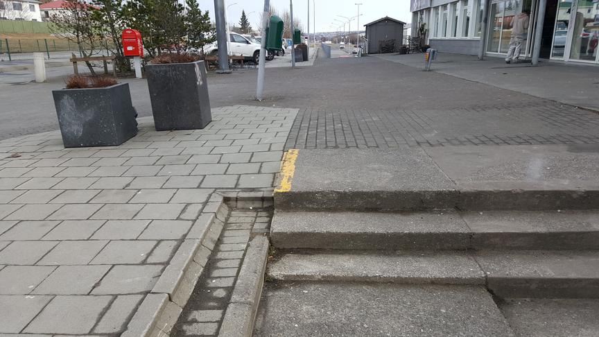 Setja skábraut á hjólaleið við Grímsbæ