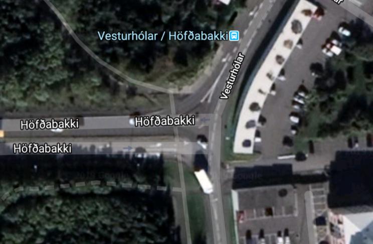 Setja hringtorg á gatnamótin Höfðabakki / Vesturhólar