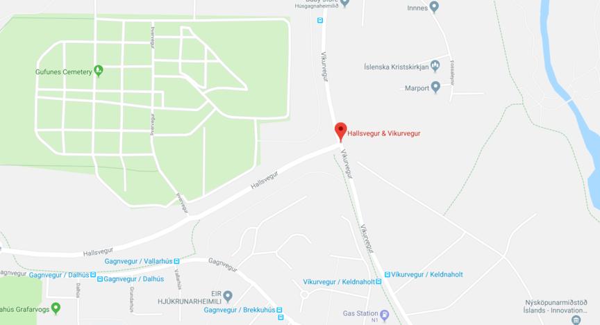 Hringtorg við gatnamót Hallsvegar og Víkurvegar